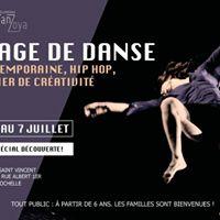Stage de danse  contaimporaine hip hop atelier de crativit