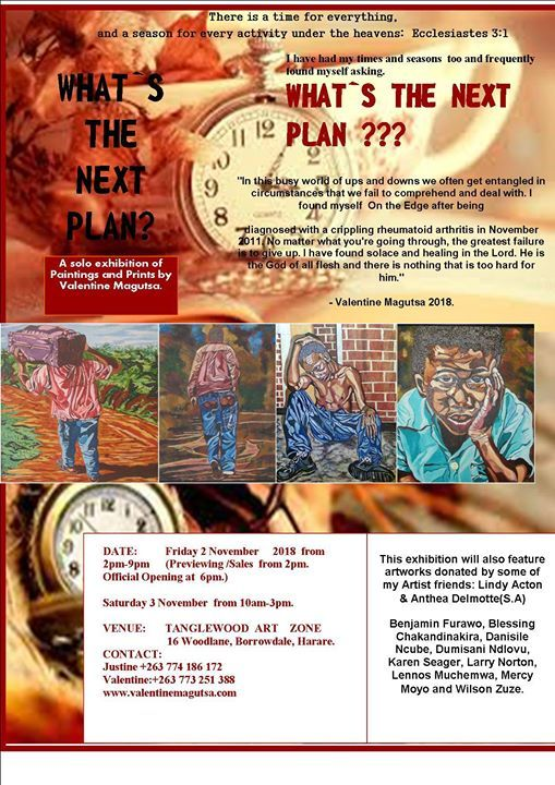 Whats the next plan- An exhibition by Valentine Magutsa.