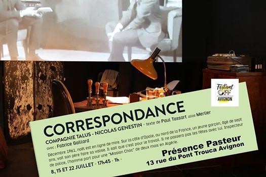 Correspondance - Festival dAvignon
