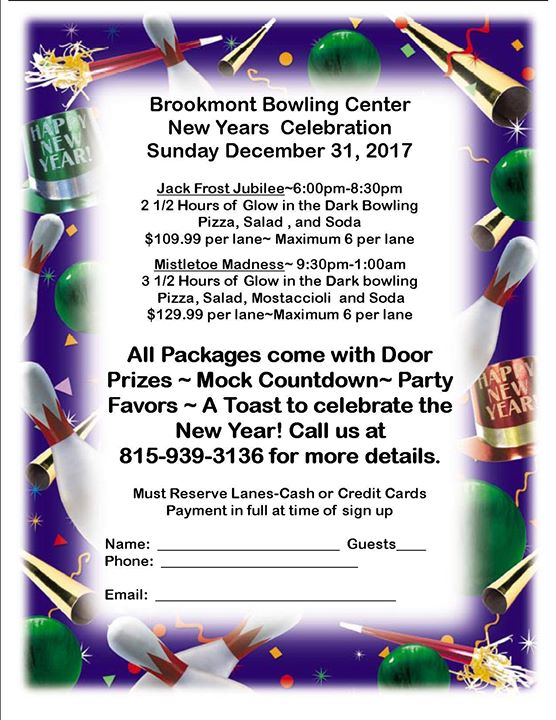 New Years Eve Party! at Brookmont Bowling., Kankakee