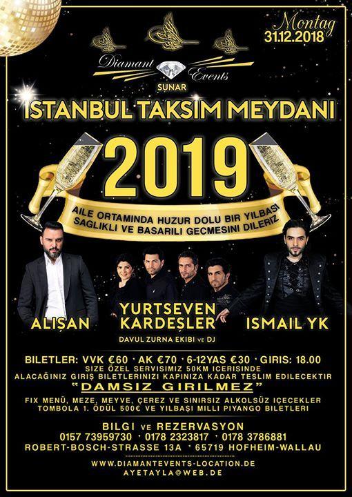 Istanbul Taksim Meydani Yilbasi Eglencesi 2019