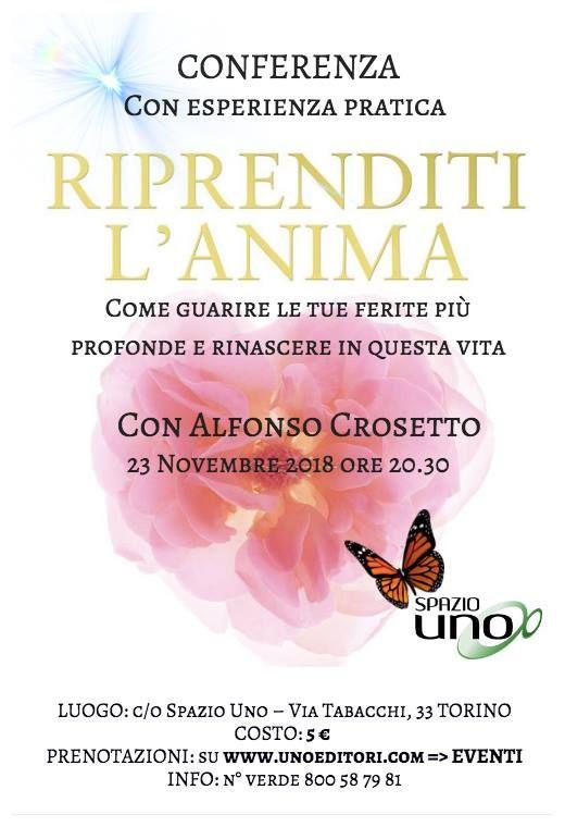 23 Novembre  Alfonso Crosetto Conferenza Riprenditi lAnima