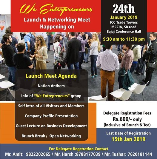 WE LAUNCH & NETWORKING MEET FOR ALL ENTREPRENEURS