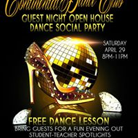 Guest Night Open House Dance Social Party