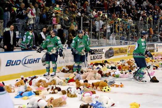 Everblades Annual Teddy Bear Toss at Germain Arena