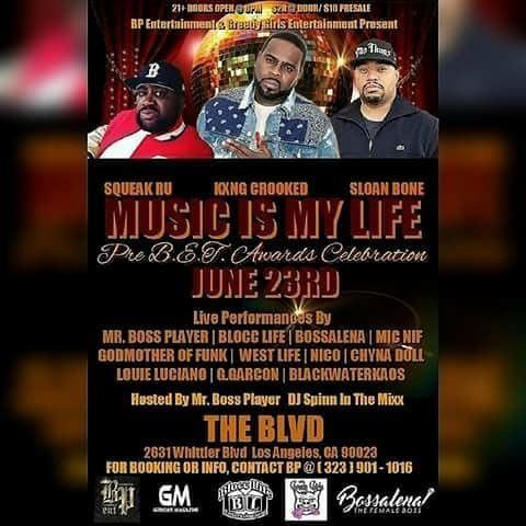 MUSIC IS MY LIFE Pre B.E.T Awards Celebration