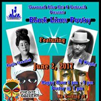 Black Lines Poetry With Savannah Blue Arts and Outreach
