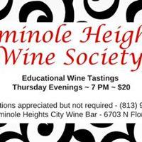 Thursday Wine Tasting - Seminole Heights Wine Society - Aug 31