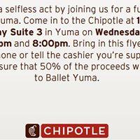 Ballet Yuma - Chipotle Fundraiser