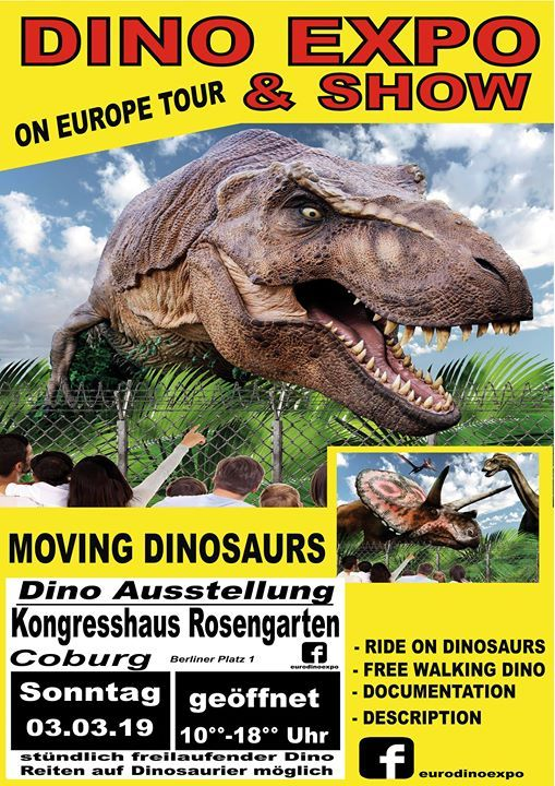 Dino Expo Coburg Kongresshaus Rosengarten