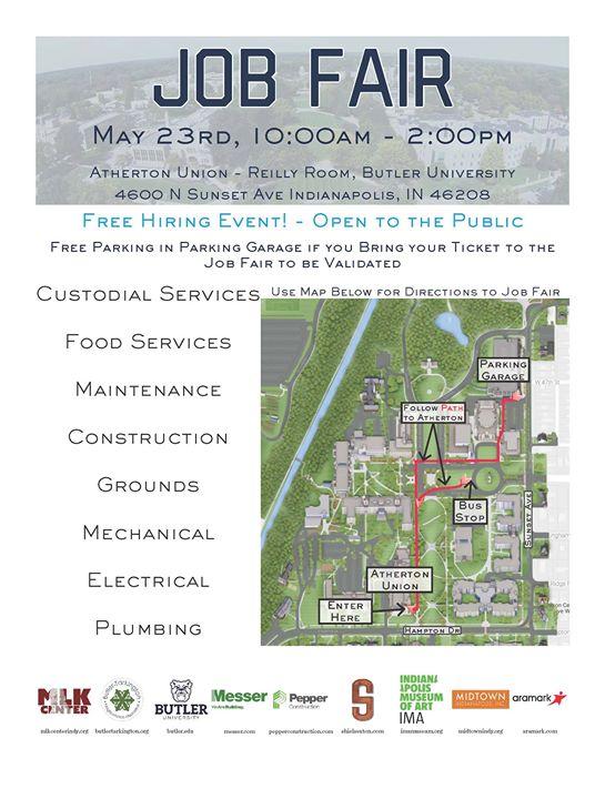 Butler University Job Fair at Atherton Union, Indiana