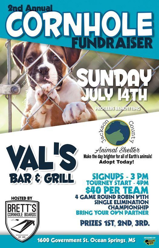 2nd Annual Jackson County Animal Shelter Cornhole Fundraiser