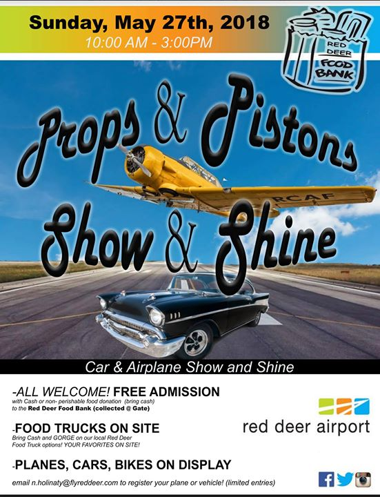 Props Pistons Show Shine At Red Deer Airport Red Deer - Car show display props