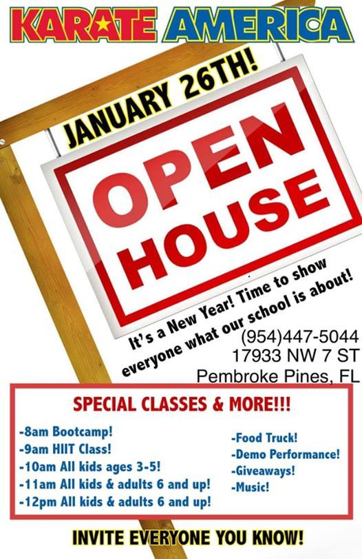FREE Karate America Open House: Self Defense, fitness, giveaways at