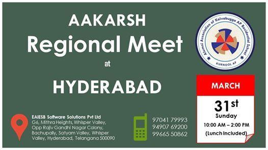 Regional Alumni Meeting Hyderabad