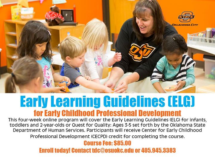 October Online Early Learning Guidelines Elg Class At Osu Okc
