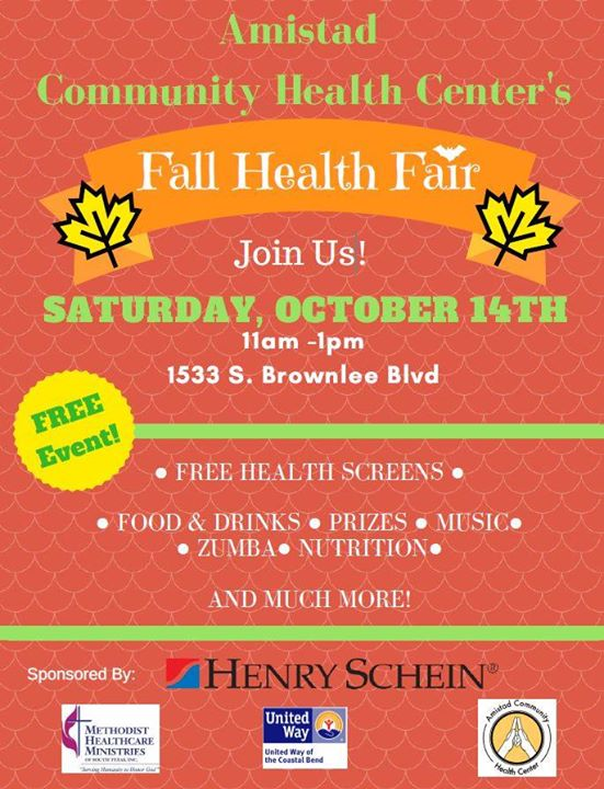 first image of Health Fair Laredo Texas October 21 And 22 with Fall Health Fair at Amistad Community Health Center ...