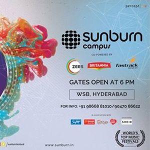 Sunburn Campus - Siana Catherine &amp DJ Shashank Hyderabad