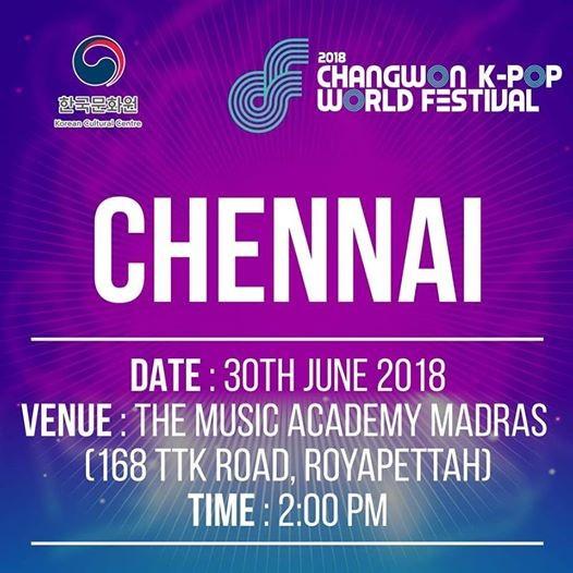 2018 Changwon K-pop World Festival  Chennai Regional Finals