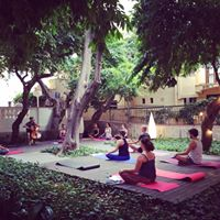 Yoga flow with Betsy Reed &amp live cello in the secret garden