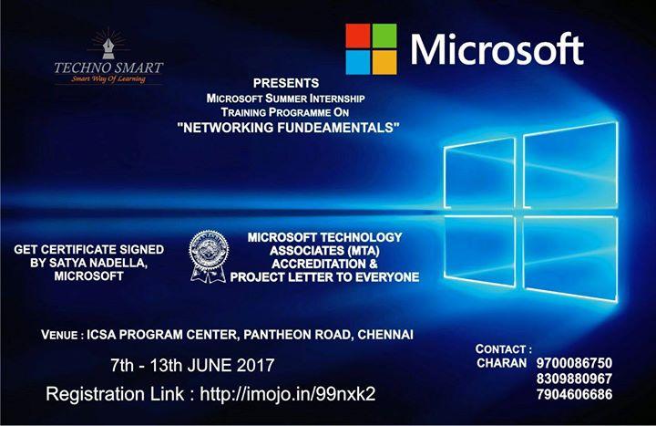 Microsofts Networking And Fundamentals Mta Certification At Icsa
