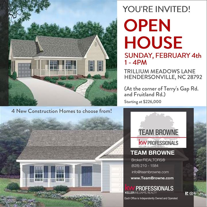 Open House - 4 New Homes in Hendersonville