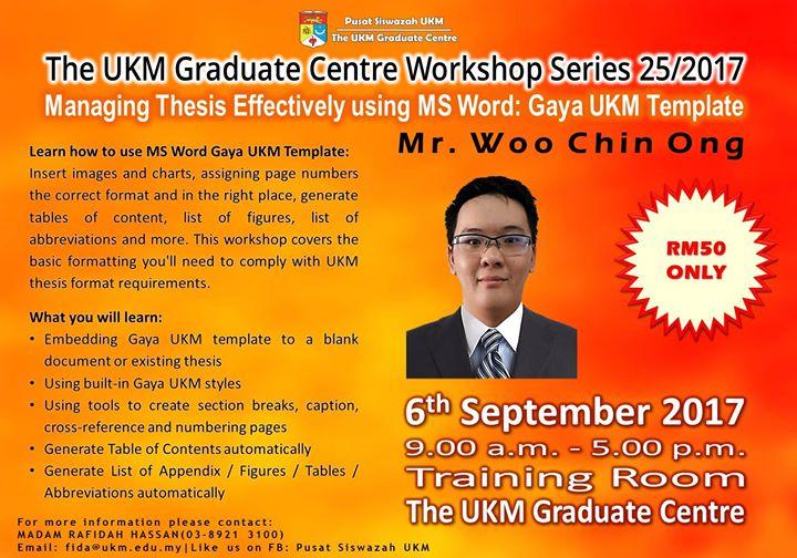 thesis template gaya ukm
