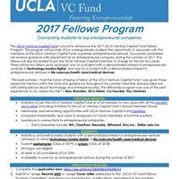 2017 UCLA VC Fund Fellows Program
