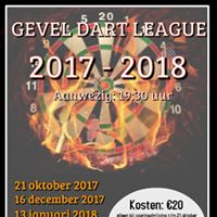 4e Gevel Dart League ranking avond