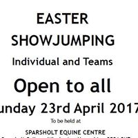 Individual and Team Easter Showjumping  - NOW FULL - NO FURTHER ENTRIES