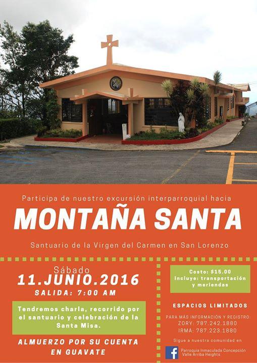 Excursi n a monta a santa san lorenzo at parroquia for Rio grande arts and crafts festival 2016