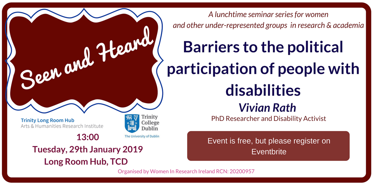 Barriers to the political participation of people with disabilities