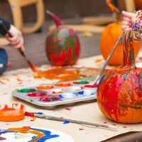 Kids Pumpkin Painting Party