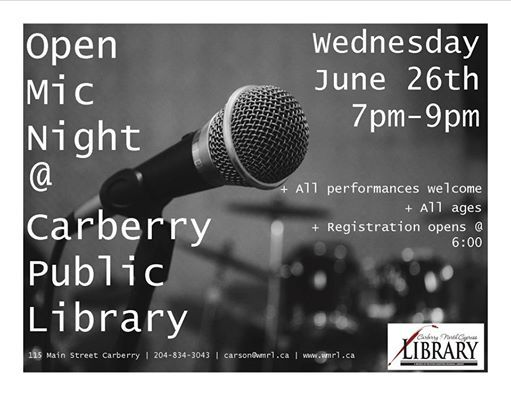 Open Mic at Carberry Library