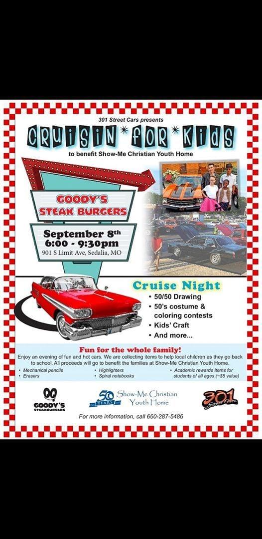 Goodys Steakburgers Street Cars Cruisin For The Kids Sedalia - Car show sedalia mo