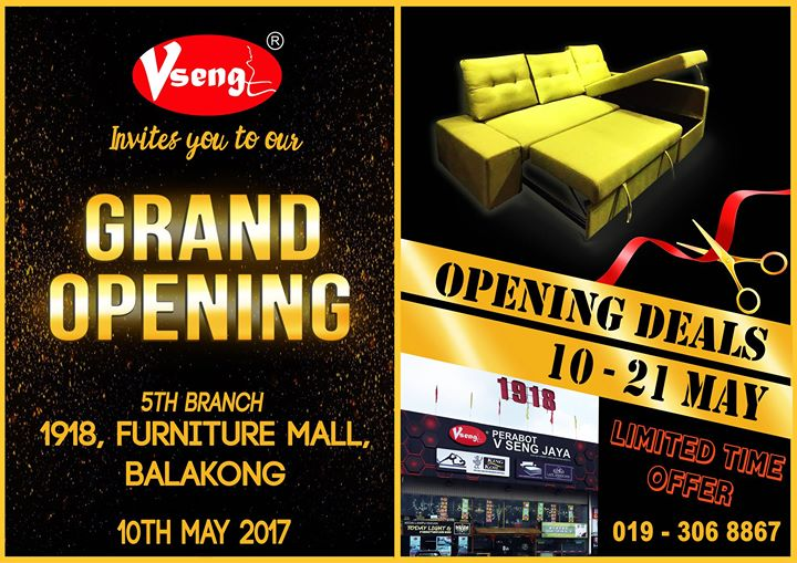 v seng jaya 5th branch balakong grand opening at 1918 furniture rh allevents in 1918 furniture mall