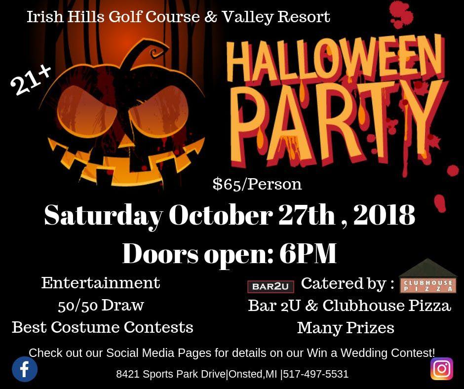 Irish Hills Golf Course   Valley Resort Halloween Party!  521537a38a17