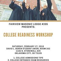 Fairview lodge 205 PresentsCollege Readiness Workshop