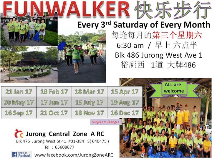 Funwalk calendar for 2017