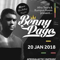 Benny Page (UK) - Rumpus Room JAN 20th. Free Entry.