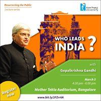 Who Leads India - Gopalkrishna Gandhi