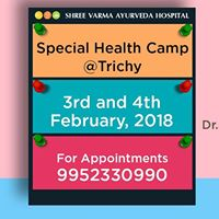 Holistic Ayurveda Health Camp at Trichy on 3rd &amp 4th February