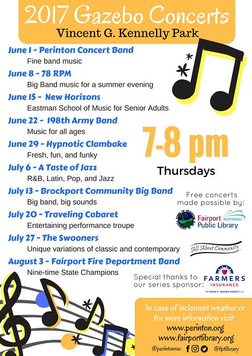 Gazebo A Taste Of Jazz At Fairport Public Library