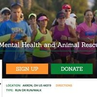 Adoption Booth at KJs 5k for Mental Health &amp Animal Rescue