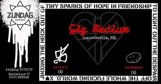Giz Medium (anarchofolk FR)  Stickie  Aardappel