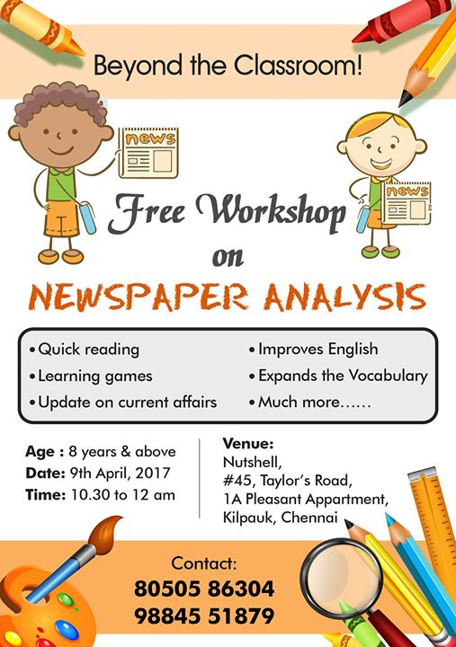 Free Workshop on News Paper Analysis