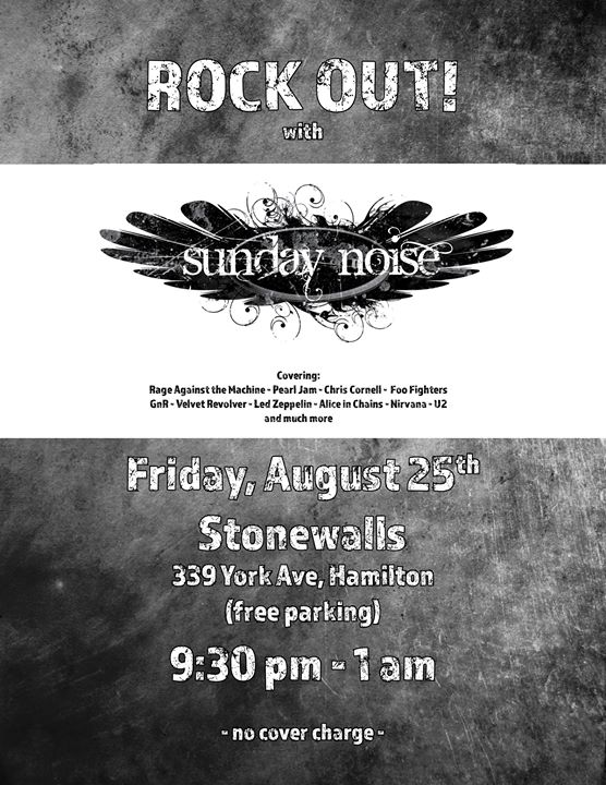 Sunday Noise at Stonewalls in Hamilton