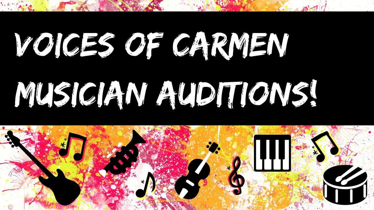 Musicians Audition - Voices of Carmen
