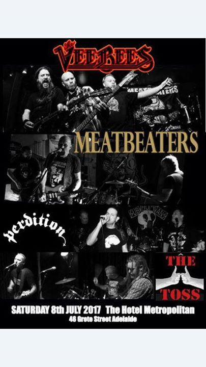 VeeBees Adelaide Tour with Meatbeaters Perdition and The Toss