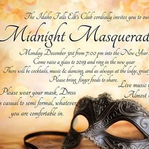 midnight masquerade new year party and dance